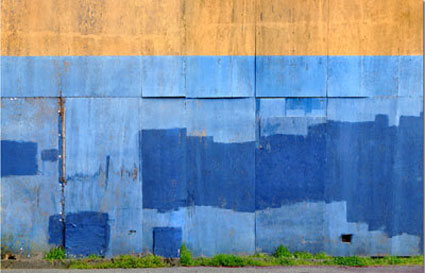 Blue Wall Abstract